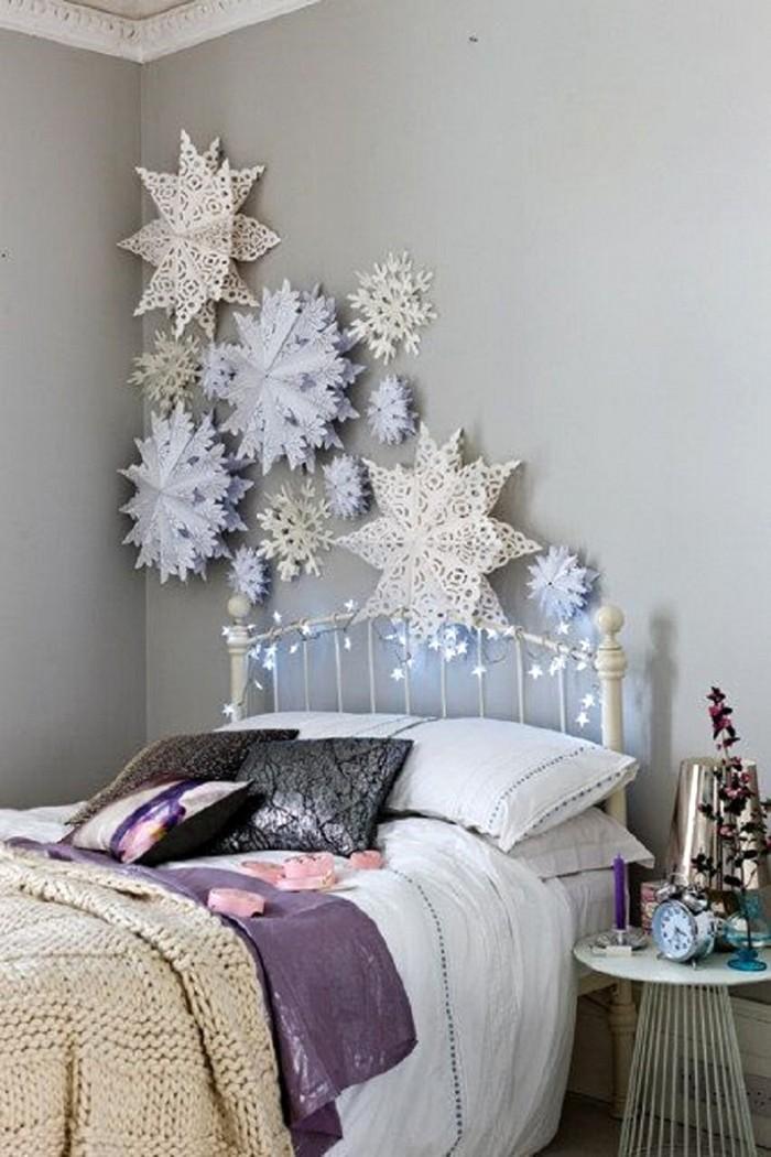 Огромные бумажные снежинки вырезать просто, а выглядят они сказочно!