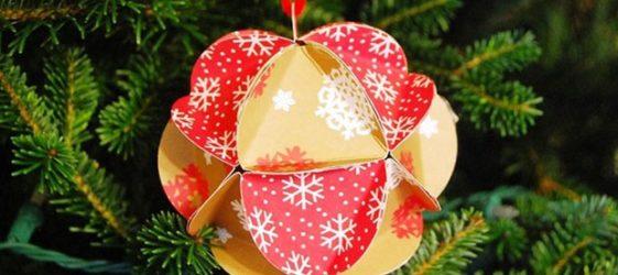 Новогодние игрушки своими руками из бумаги и не только