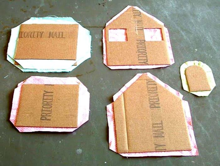 Способ декорирования элементов домика