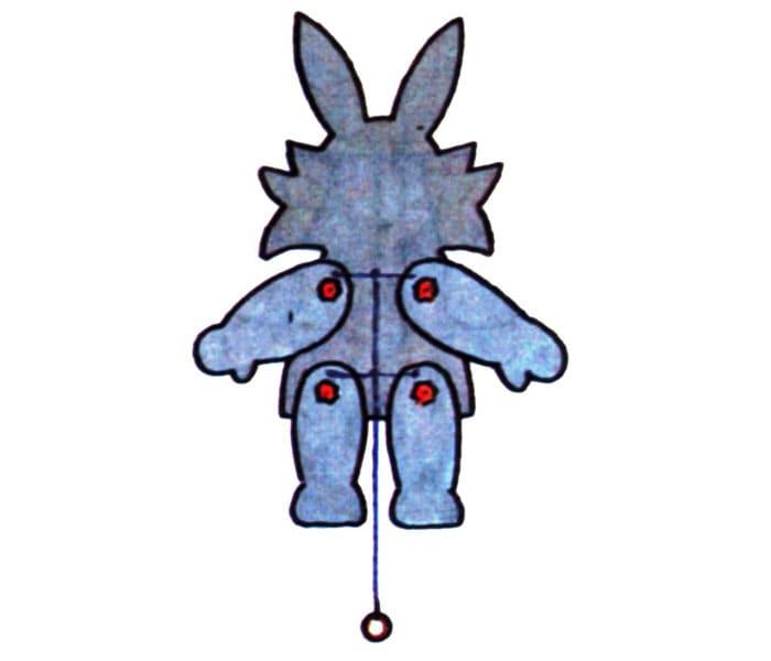Пример марионетки, которая приводится в движение, если дёрнуть за ниточку