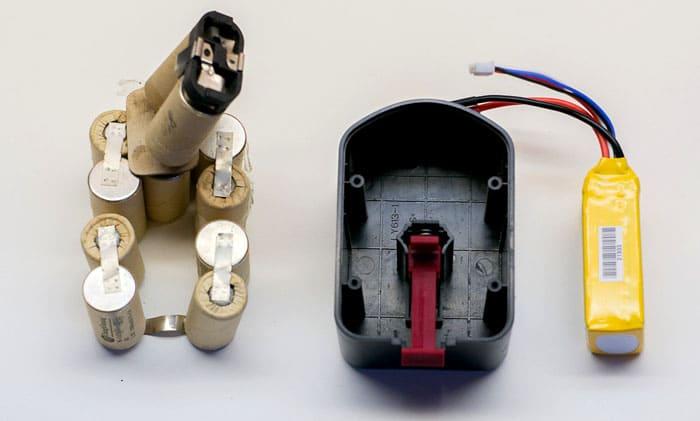 Внутри батареи находится не так много элементов