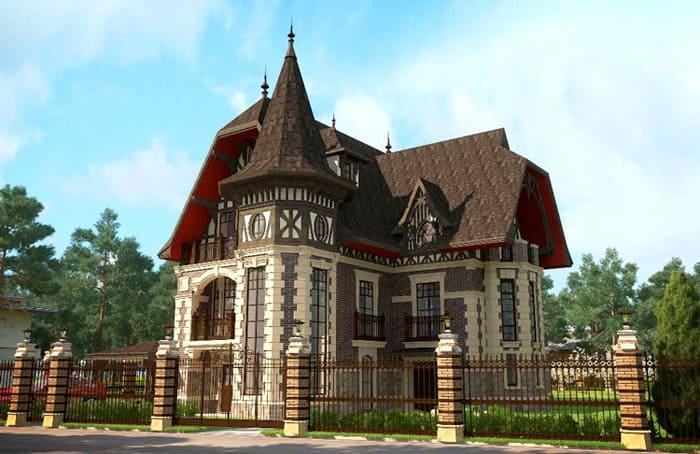 Вместо средневековых стрельчатых окон в проекты включён узкий тип высокого окна прямоугольной формы, часто дополненный витражами