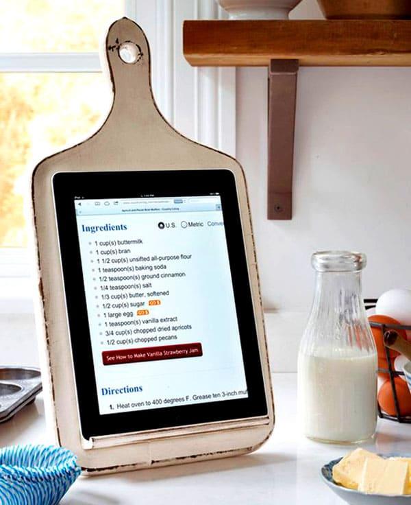 Для тех, кто использует на кухне планшеты и читалки