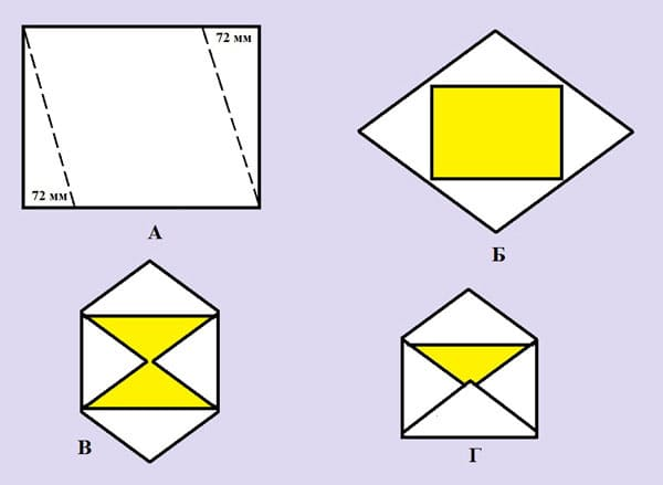 kak-sdelat-konvert-iz-lista-a4-2 Как сделать конверт из бумаги А4 своими руками для письма