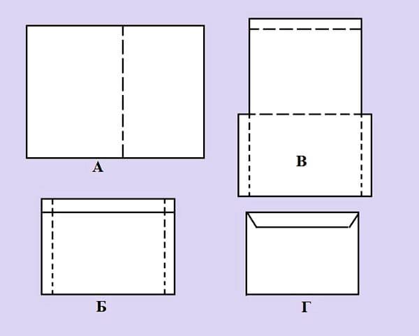 kak-sdelat-konvert-iz-lista-a4-3 Как сделать конверт из бумаги А4 своими руками для письма