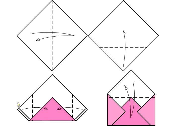 kak-sdelat-konvert-iz-lista-a4-6 Как сделать конверт из бумаги А4 своими руками для письма