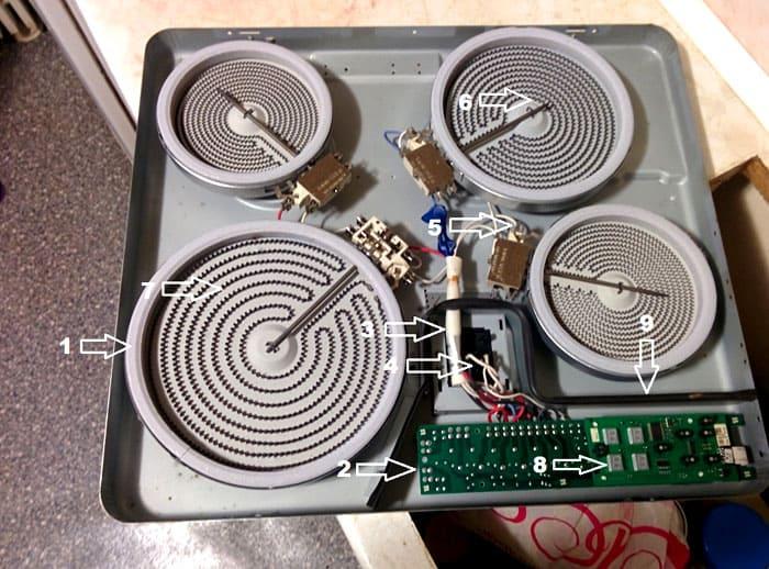 Устройство электрической варочной панели