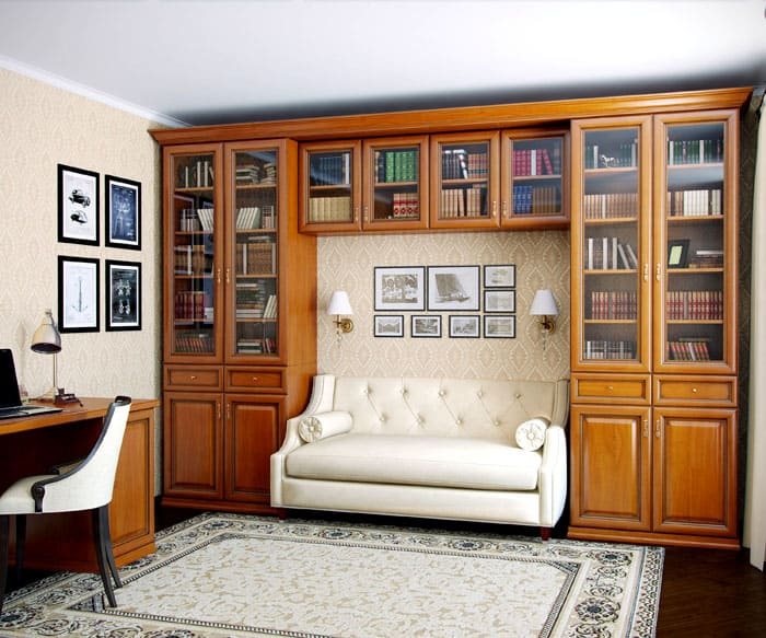 Книжные шкафы и библиотеки для дома