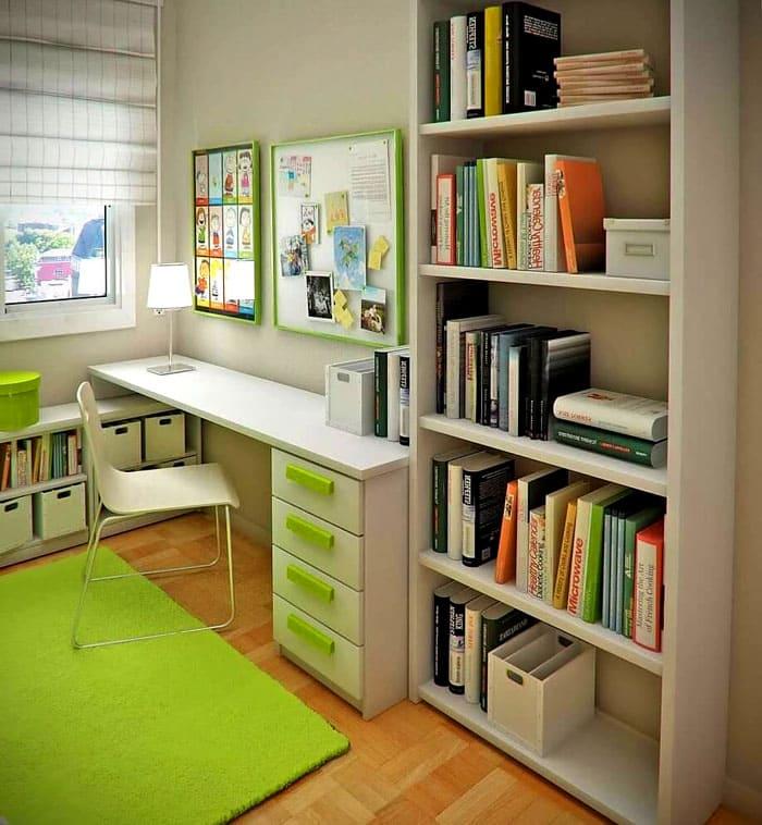 Детям школьного возраста будет удобно доставать учебники и любимые истории с открытой полки