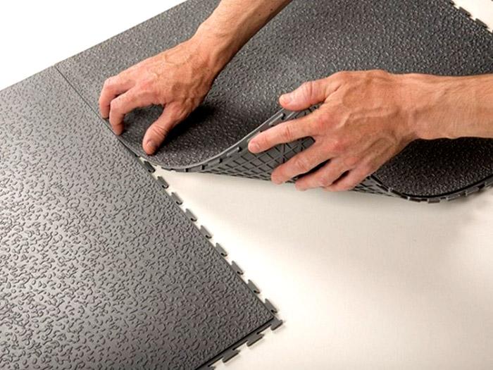 Промышленная ПВХ плитка для бесклеевой укладки со скрытыми замковыми соединениями