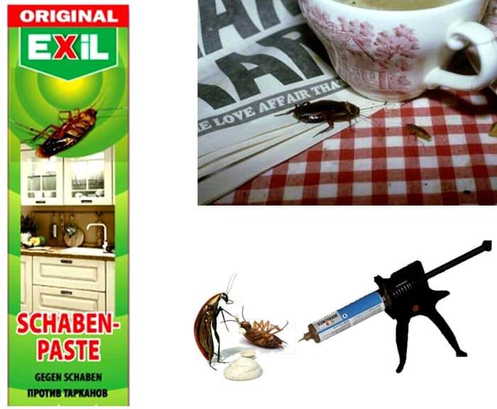 Гель Exil уничтожает рыжих насекомых не только в условиях квартиры, но и в любом другом помещении