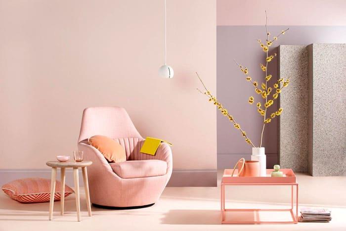 Эксперименты с оттенками розового вдохнут в помещение новую жизнь