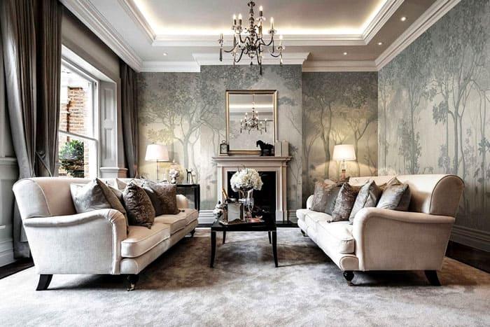 В этом году большую роль играет текстура стен и оформление потолка