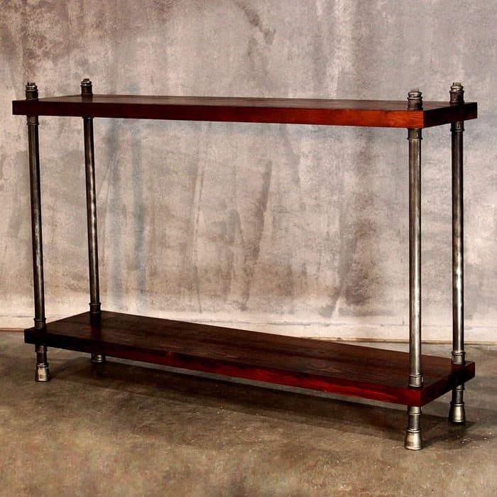 Снова сочетание металла и дерева: простой дизайн для гармонии в интерьере
