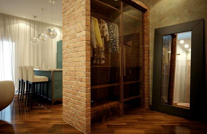 Кирпичный шкаф: идеальное совмещение места хранения и стилевого требования