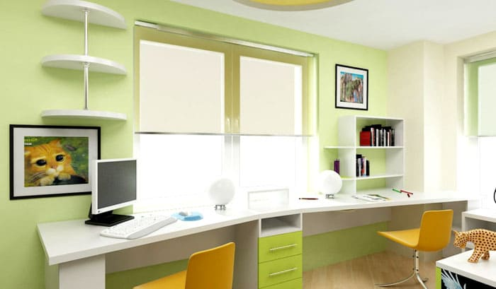 Часто цветовое сочетание мебели заказывают в тон, созвучный цвету комнаты