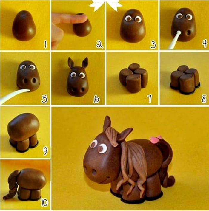 Маленький ослик и лошадка делаются по одному принципу