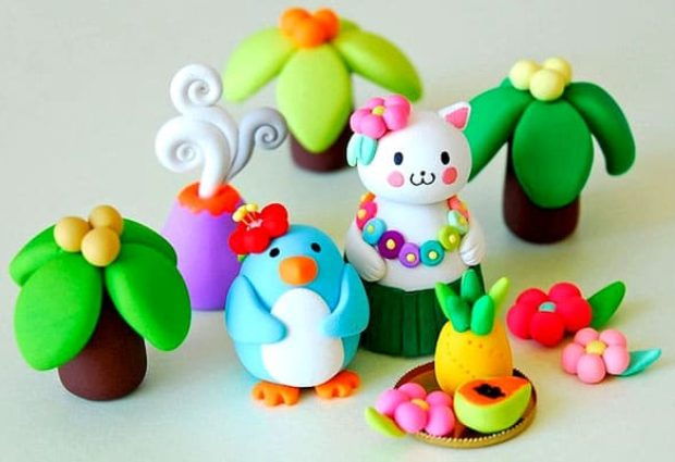 Поделки для детей из пластилина