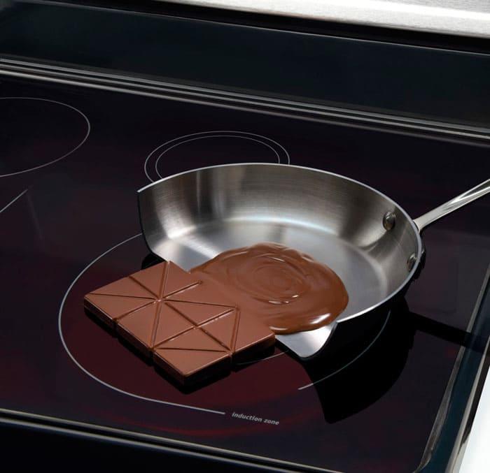 Так как индукционный ток взаимодействует только с посудой, то конфорка, если и нагревается, то только от её дна