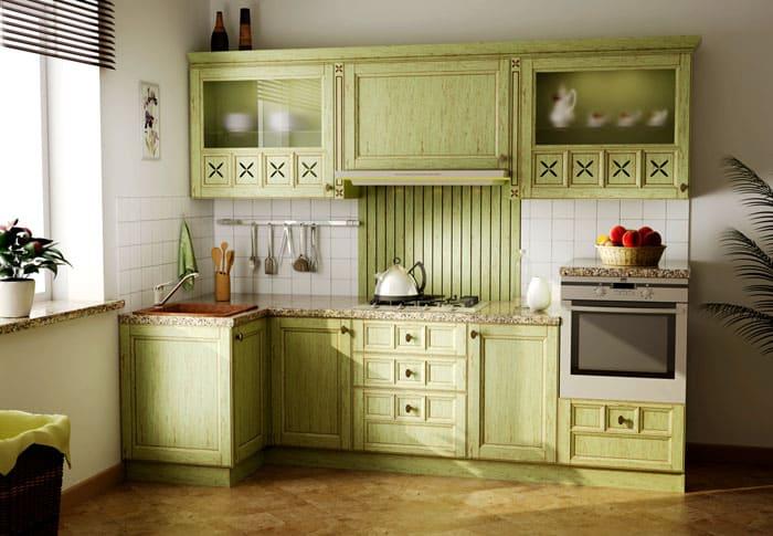 Прованс и итальянские направления активно используют рейлинговые системы, на крючках которых мило и по-домашнему аккуратно висит разная кухонная утварь