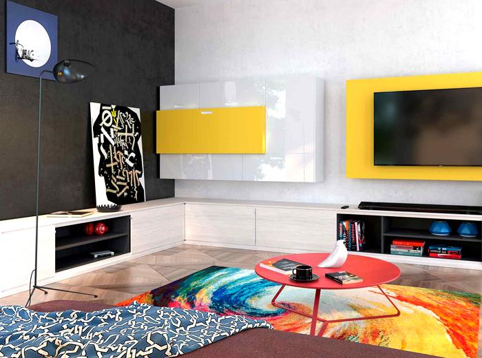 Цвет текстиля может существенным образом поменять впечатление от интерьера