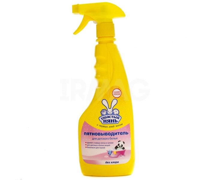 «Ушастый нянь» как пятновыводитель безопасен для детских вещей, но весьма эффективен против следов крови