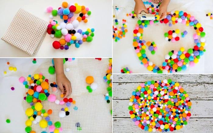 Из разноцветных шариков тоже получаются красивые изделия
