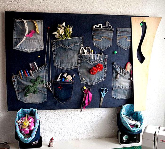 Вот такие кармашки хорошо организуют пространство и в детской, и в ванной, и в спальне, и в рабочем кабинете