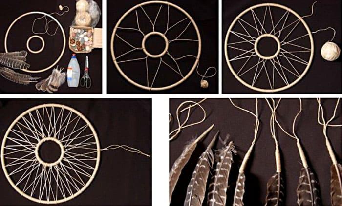 Вот ещё интересная схема плетения паутины