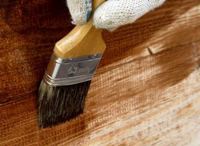 Окраска древесины шелухой лука