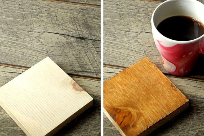 Окрашивание древесины при помощи кофе