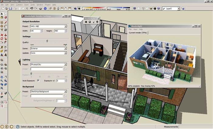 SketchUp может создавать простейшие образы и визуализацию