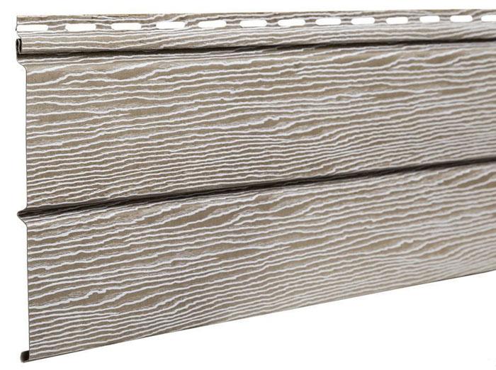 Виниловый сайдинг, профиль брус (TimberBlock), коллекция «Серебристый дуб»
