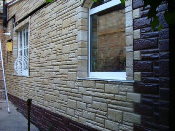 """Отделка фасада дома с использованием цветовых вариантов коллекции """"Камень"""""""