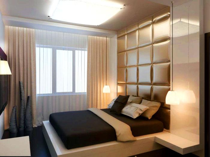 Современные решения иногда бывают нетривиальными. Например, кровать может иметь продолжение вверх по стене, превращаясь в покрытие