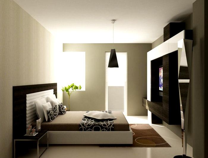 Коричневый цвет можно дополнить серо-фисташковым оттенком, взятым как основной фон стен
