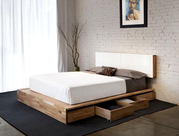 Желательно, чтобы мебель была без лишних деталей, вокруг должна царить простая геометрия
