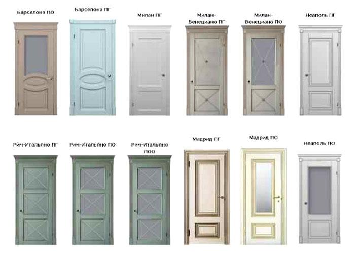 Можно выбирать и глянцевые, и матовые двери, причём необязательно белого цвета