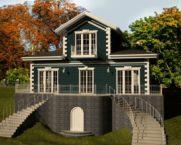 Дом с мезонином: фото
