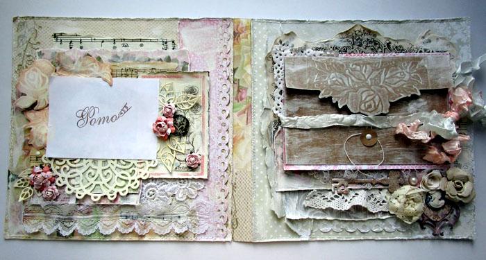 Допустимо брать бумагу в горошек, полоску, подбирать сухоцветы, ленточки, кусочки нотных страниц