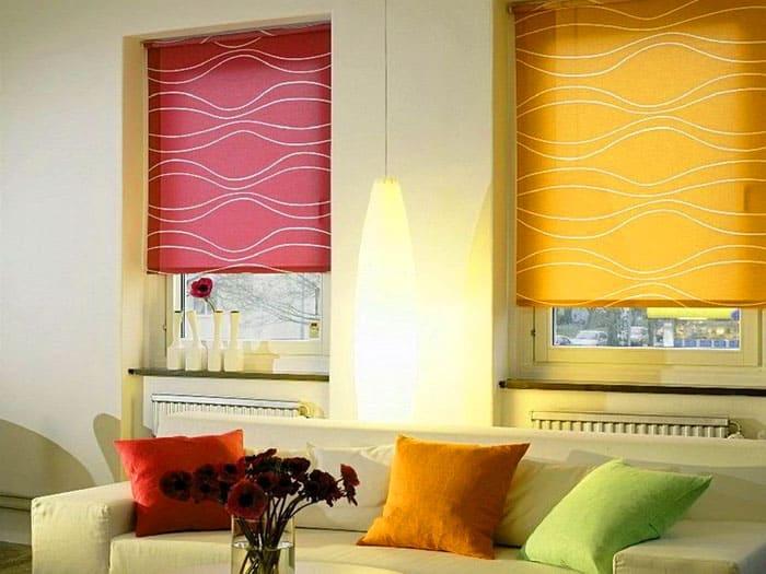 Два окна, два цвета – получился яркий акцент