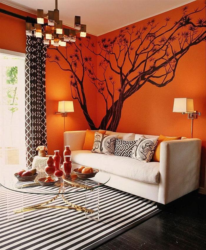 Оранжевый цвет может быть умеренным