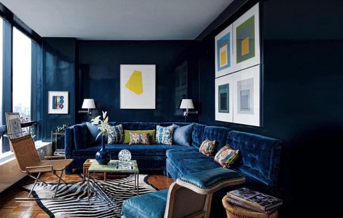 С синими оттенками можно отлично поиграть в дизайне: это и элегантные комнаты, и морские стили
