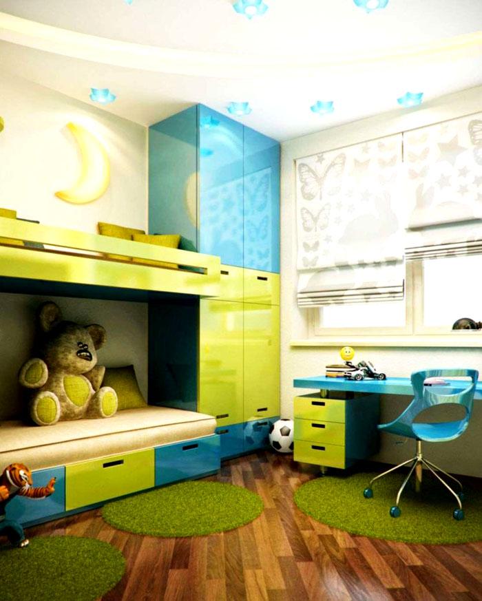 Дети любят яркие комнаты