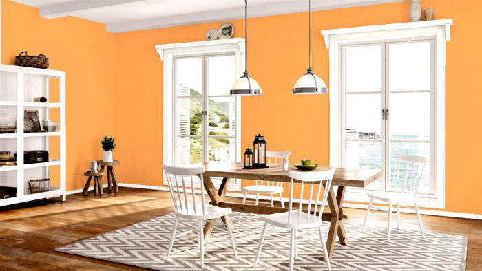 Персиковый может быть ярким или нежным, если смешать его с белым. Это существенная разница в оформлении комнаты