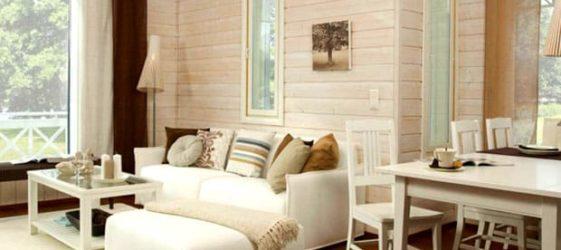 Отделка внутри деревянного дома: фото