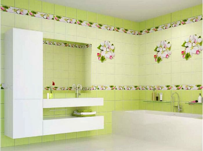 Ванная преображается в ином цвете