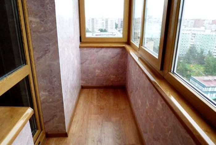 Для лоджии или балкона это самый бюджетный способ ремонта