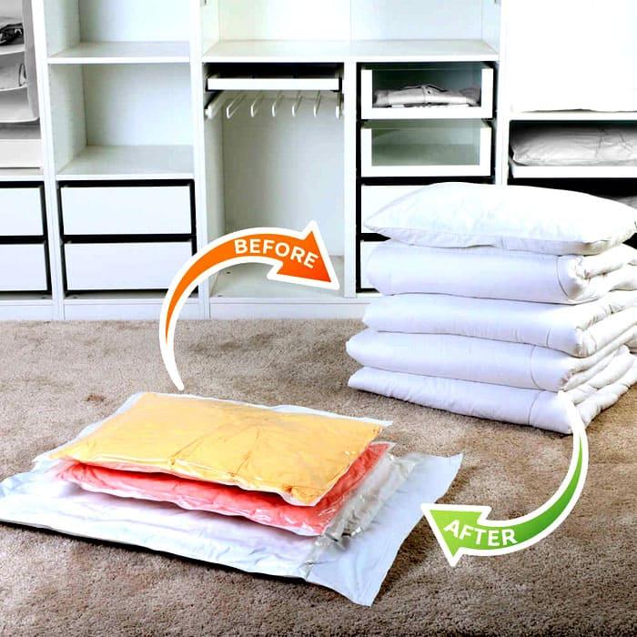 Для хранения постельного белья следует приобретать ароматизированные мешки. После такого хранения постель будет благоухать лавандой, жасмином или сиренью