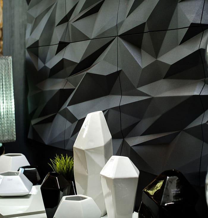 Для кабинетов также хороши объёмные плиты. Цвета могут быть чёрные, белые, нейтральные. Любые, не отвлекающие